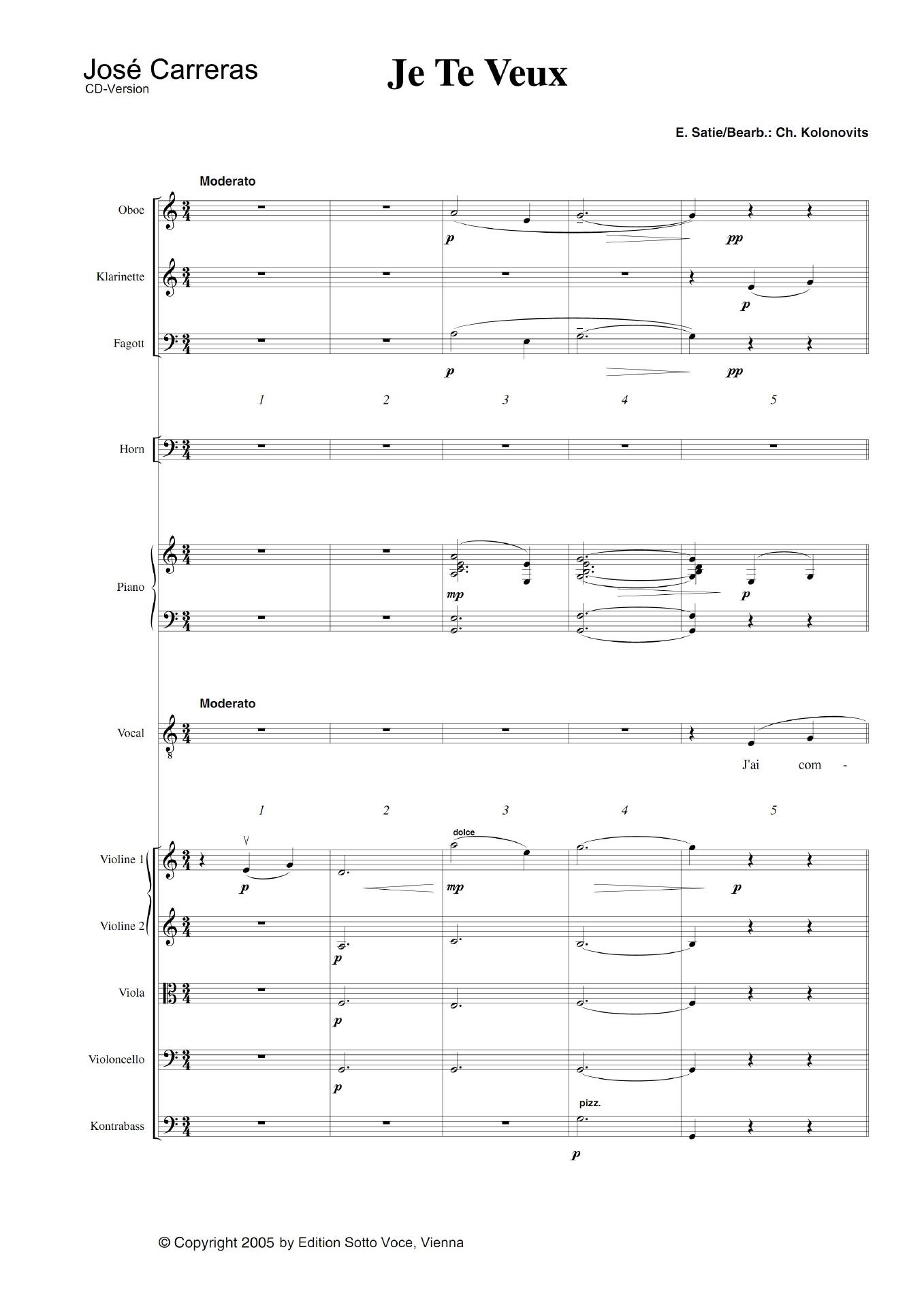 je te veux satie sheet music pdf